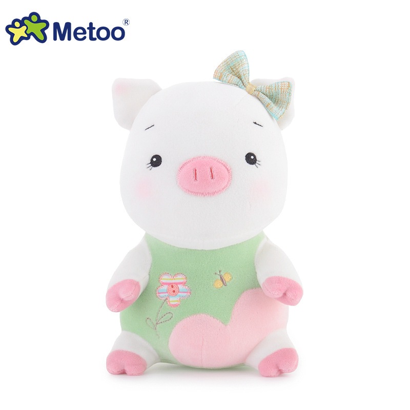 Metoo 9.4 Inch Plush Pig  Doll Cute Stuffed Brinquedos Baby Kids Toys for Girls Birthday Christmas Gift Bonecas Appease Dolls disney baby winnie the pooh mickey mouse minnie doll baby boys girls stuffed birthday christmas gift for children plush toys