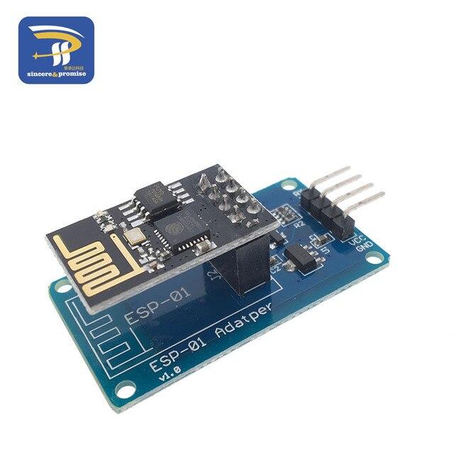 ESP8266 ESP-01 serie de WiFi del adaptador inalámbrico módulo 3,3 V 5 V Esp01 fuga PCB adaptadores Compatible con Arduino