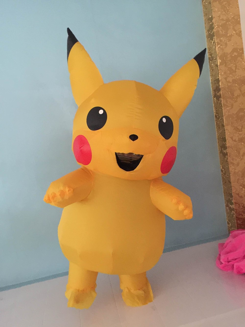 Inflatable Pikachu Costume Pokemon Costume Halloween -7291