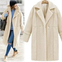 B Women winter Leather non original coat thicken warm artificial female Animal fur Coats and Jackets solid color woman coat