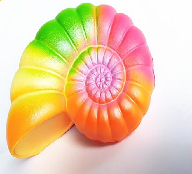 Squishy Rainbow Beach Conch Snail Shell Soft Slow Rising Pendant Phone Straps Stretchy Squeeze Scented Cake Kid Toys