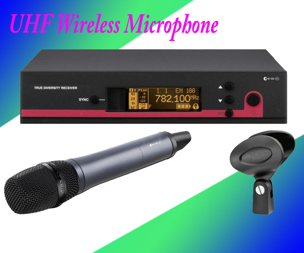 Top Quality! Professional True Diversity Single Handheld Wireless Mic Microfone UHF Wireless Microphone System Perfect for Stage 4 x 100 channel ture true diversity whole metal cordless microphone system uhf wireless stage microphone system 4 mic