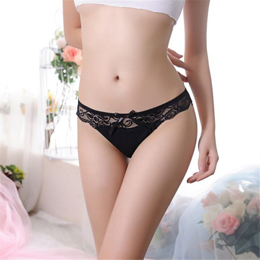 Buy Floral Lace Bragas Thongs G String Panties Women Underwear Briefs Cotton Bragas Sexy Lingerie