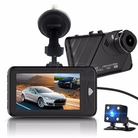 Original Dual Lens Dash Camera 3 Inch Dashcam Novatek 96658 Video Recorder HDR G Sensor Night