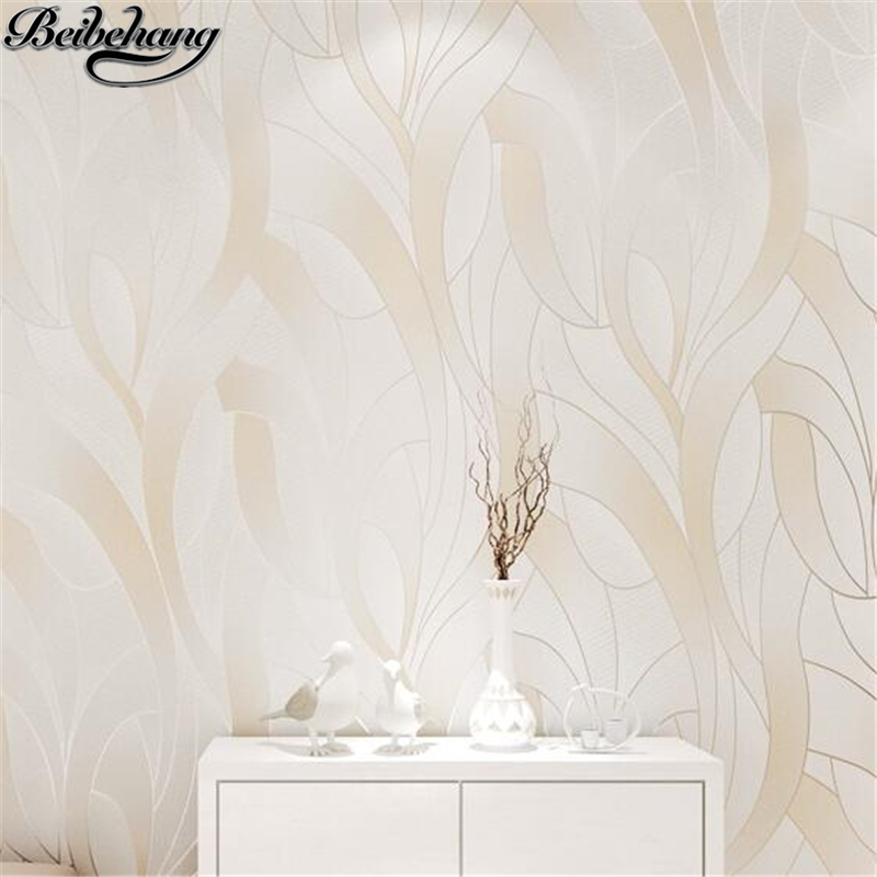 beibehang Modern minimalist wallpaper bedroom warm non-woven wallpaper living room hotel yuya TV background wall papel de parede beibehang 3d embossed wallpaper non woven floral design wall covering modern minimalist style living room tv background