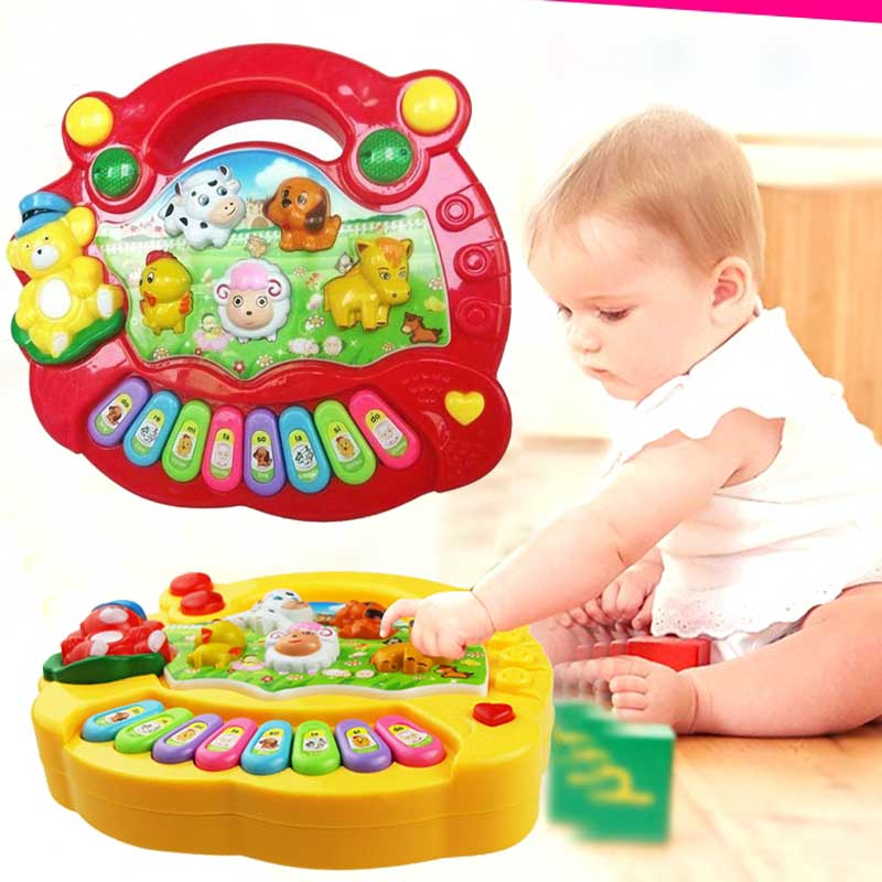 Toy Musical Instrument Baby Kids Educational Piano Animal Farm Developmental Music Toys for Children Gift -17 BM
