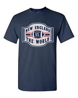 New England VS The World Football Sports DT Adult T Shirt Tee