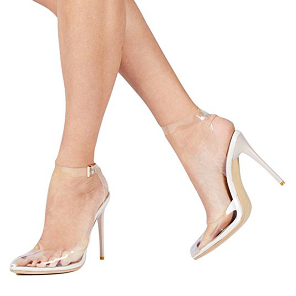 2018 New Brans Women Shoes Pointed Toe Single Shoes Woman Zapatos Mujer Transparent Tangle High Heeled Women's Pumps Sandals fashion suede leather heeled sandals pointed toe lace up women pumps spikle high heel women shoes zapatos mujer
