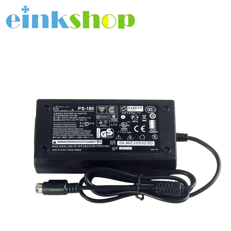 Einkshop 1pcs 24V 2A 2 1A 3Pin AC Adapter Charger Power Supply Cord For Epson TM U220P PS180 PS179 in Printer Parts from Computer Office