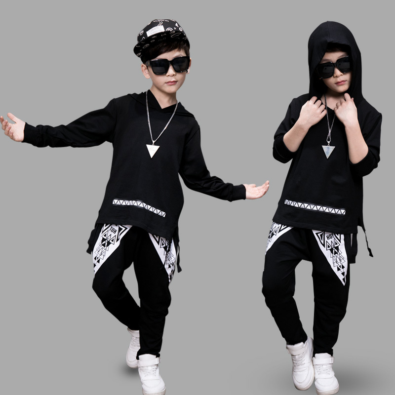 Teenager Boy tracksuit boys clothing sets Hip-Hop boy sport suit cotton boy costume school 2017 Autumn kids clothes casual 0-11T a suit of graceful rhinestoned water drop necklace and earrings for women