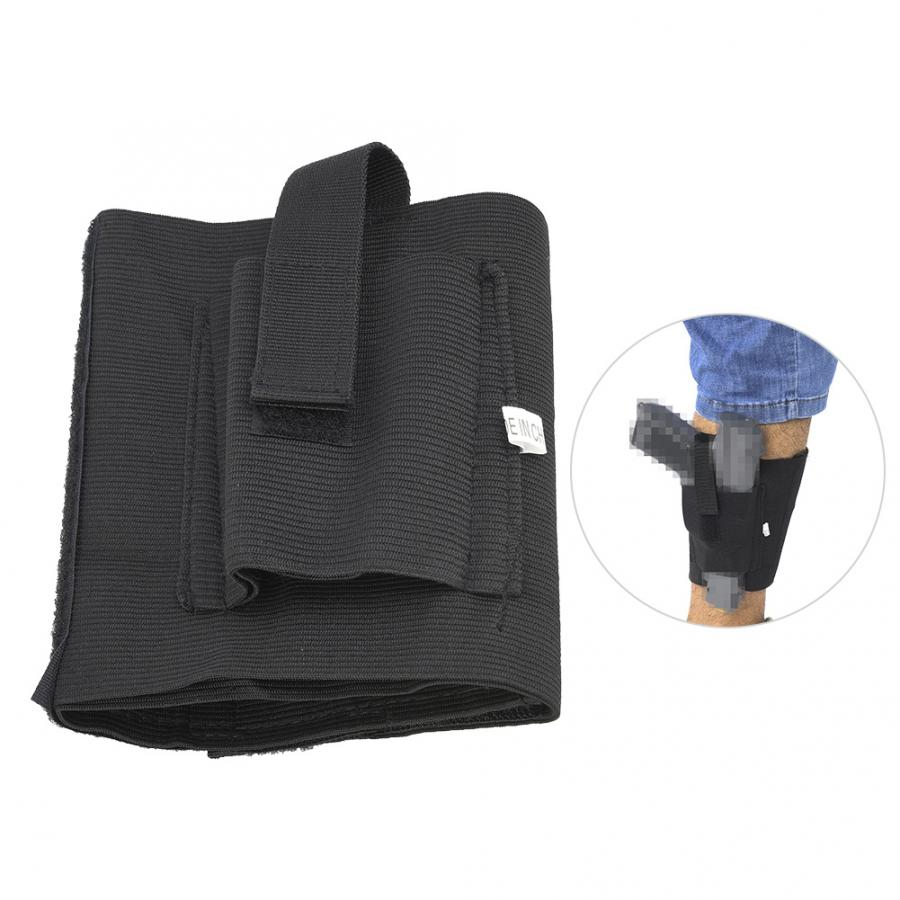 Durable Rubber band Ankle Holster Outdoor Ankle Holster Black Concealed Carry Holder Portable Shooting Accessory(China)