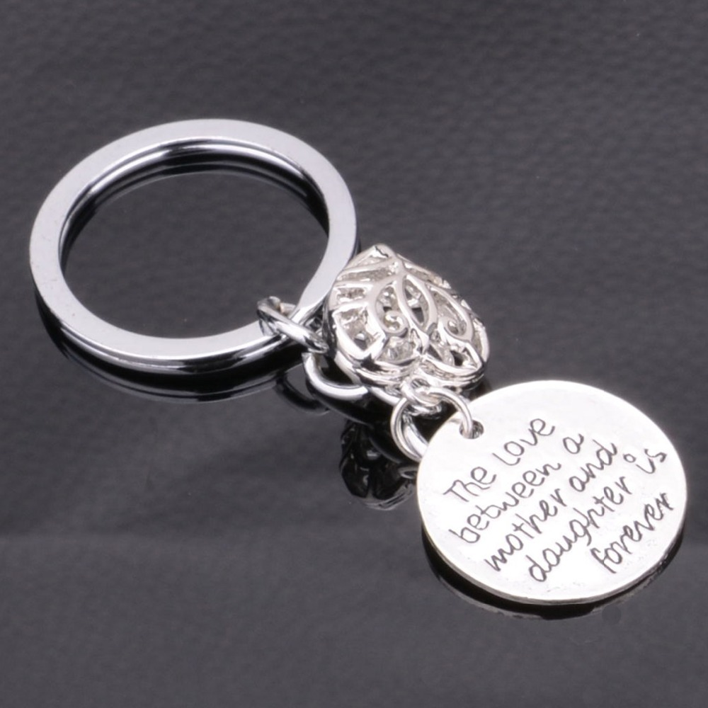 Mother /& Daughter Loving Words Pendant Heart Shaped Key Ring Keychain Keyfob