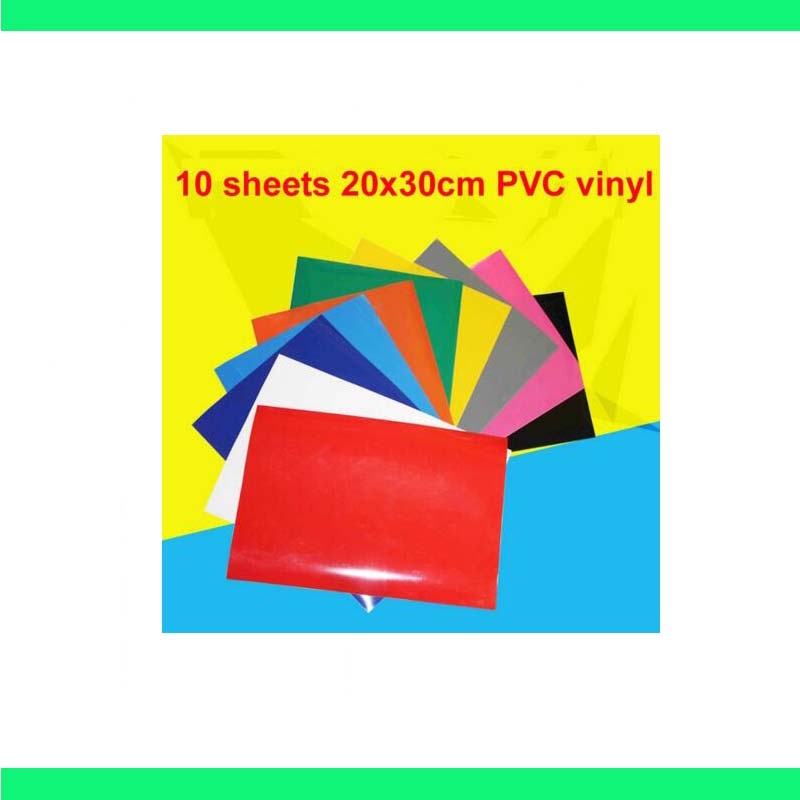 Free shipping 10 sheets/colors A4 size PVC Heat Transfer Vinyl Iron on vinyl Heat Press Machine Cutting Plotter HTV T-shirt DIY