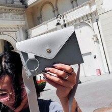 Модная поясная сумка, модная женская однотонная кожаная сумка на плечо с кольцом, сумка на грудь, сумка для денег, элегантные мягкие сумки
