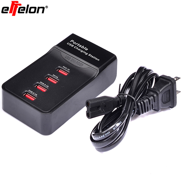 Effelon High Quality Portable Usb 4 Ports Charging Station For Camera Mobile Phone Power Bank Tablet usb power station