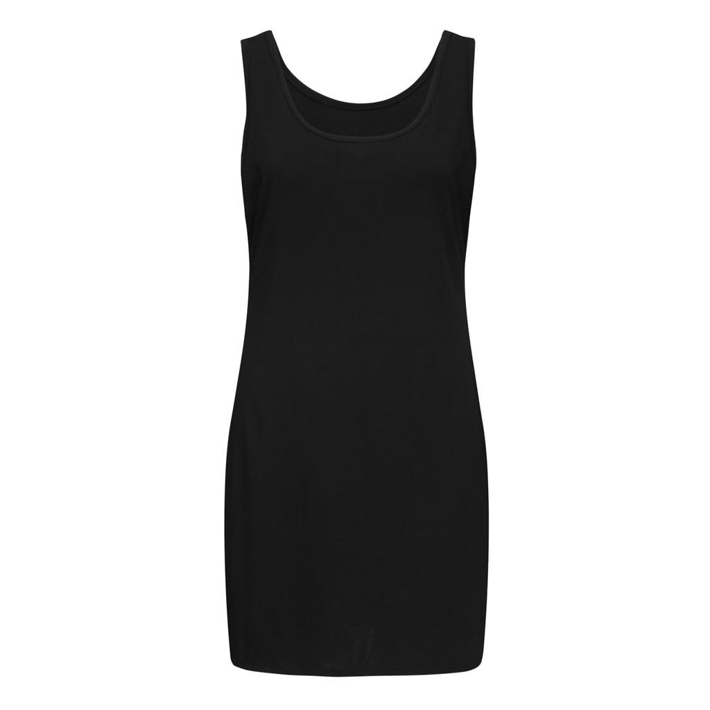 Plus Size Dresses For Women 4xl 5xl 6xl Party Bodycon Dress Elegant Midi O-neck Solid Color Sleeveless Sexy Dress Women Club - dresses