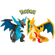 2pcs Pokemon Mega Evolution X & Y Charizard Plush Toys Soft Stuffed Animals Toys Doll for Kids Children Christmas Gifts With Tag