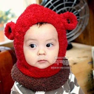 Free shipping2013 winter newborn baby child velvet wool knitted beanie animal crochet sheep hat/cap with ear protector wholesale