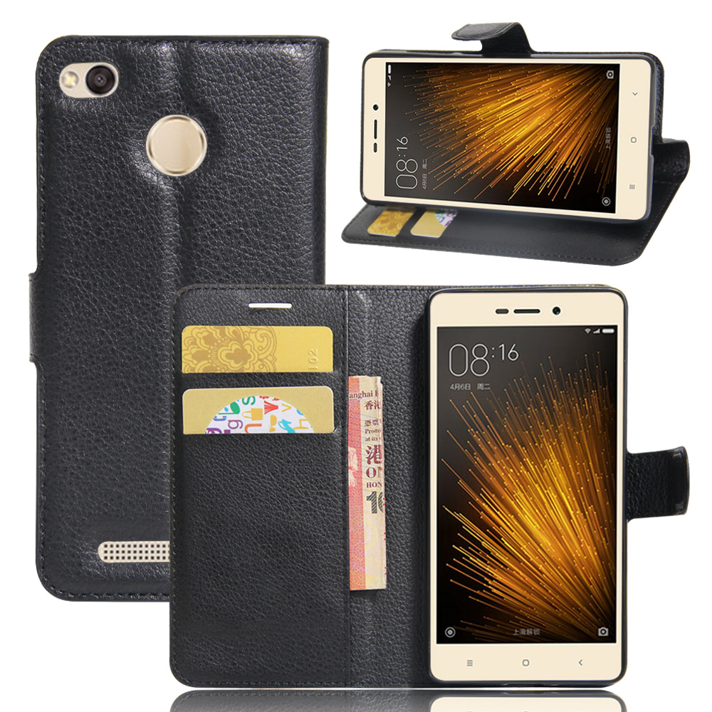 For Xiaomi Redmi 3X case cover ,<font><b>New</b></font> <font><b>2017</b></font> Lychee leather wallet stand <font><b>phone</b></font> case cover For Xiaomi Redmi 3X