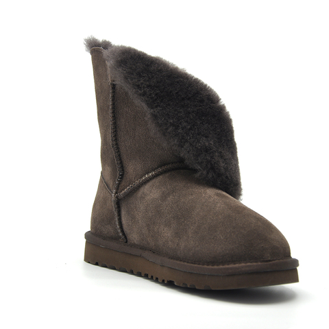 Free Shipping New Arrival 100% Real Fur Classic Mujer Botas Waterproof Genuine Cowhide Leather Snow Boots Winter Shoes for Women Islamabad