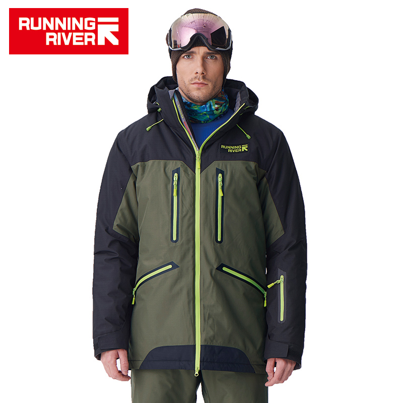 RUNNING RIVER Brand High Quality Men Winter snowboard Jacket 4 Colors 6 Sizes Warm Sport ...