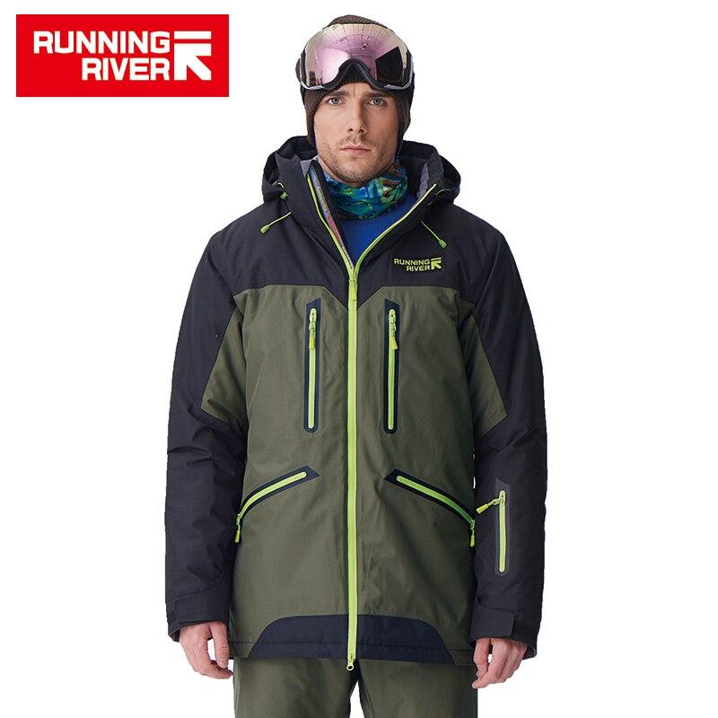 RUNNING RIVER marque haute qualité hommes hiver snowboard veste 4 couleurs 6 tailles chaud Sport plein air vêtements pour homme vestes # A7009
