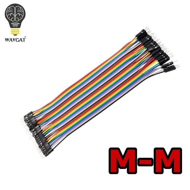 WAVGAT Dupont line 120 шт. 20 см мужской+ мужской женский и Женский Соединительный провод Dupont кабель для Arduino - Цвет: MM20CM