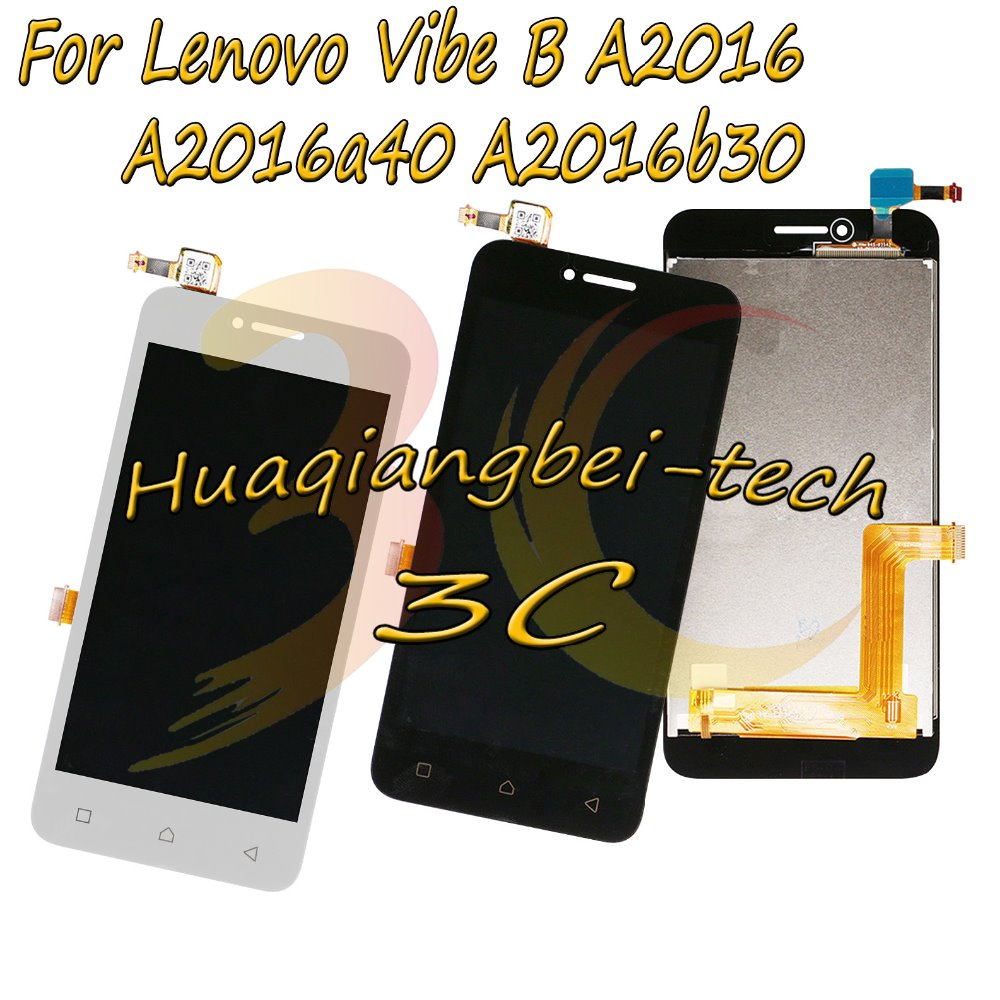 4.5 New For Lenovo Vibe B A2016 A2016a40 A2016b30 A2016b31 Full LCD DIsplay + Touch Screen Digitizer Assembly 100% Tested4.5 New For Lenovo Vibe B A2016 A2016a40 A2016b30 A2016b31 Full LCD DIsplay + Touch Screen Digitizer Assembly 100% Tested