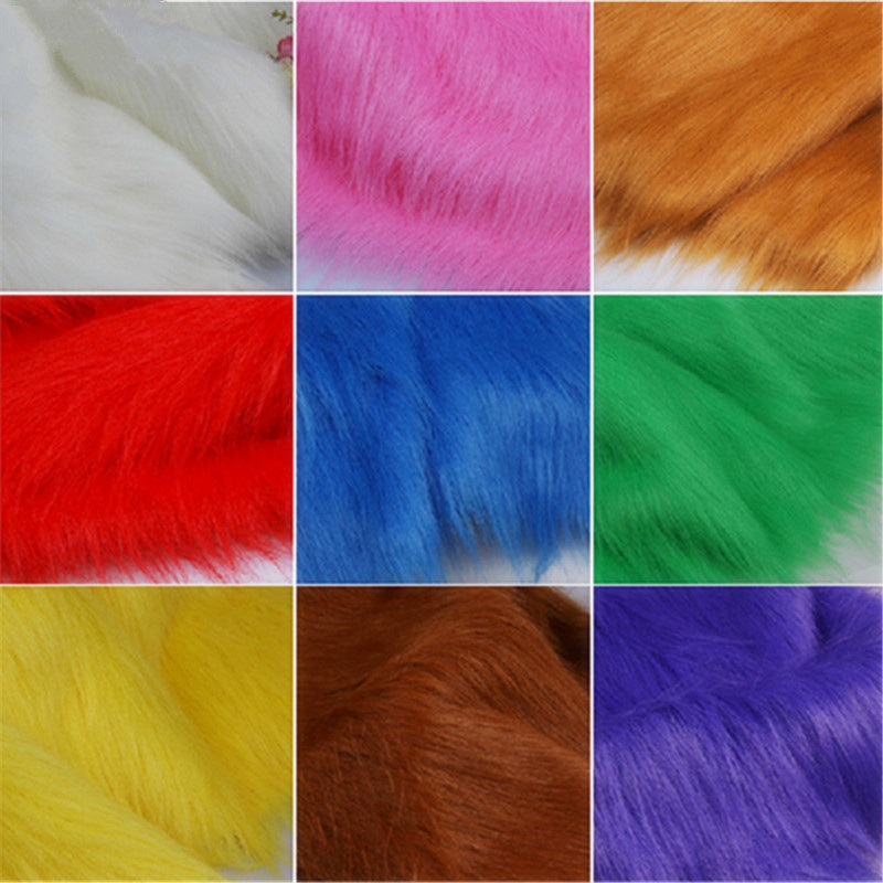 2016hot! Multicolore, En Fausse fourrure tissu, Imitation pour animaux de fourrure, velours tissu pour la couture, vente pour piece.1 pièce est 50 cm * 80 cm