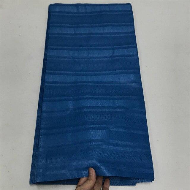 2019 Atiku Da Uomo In Tessuto Panno Svizzero Atiku Materiale Nigeriano profondo Colore blu Atiku Tessuto 10 yards Tessuto Africano Atiku Tessuto