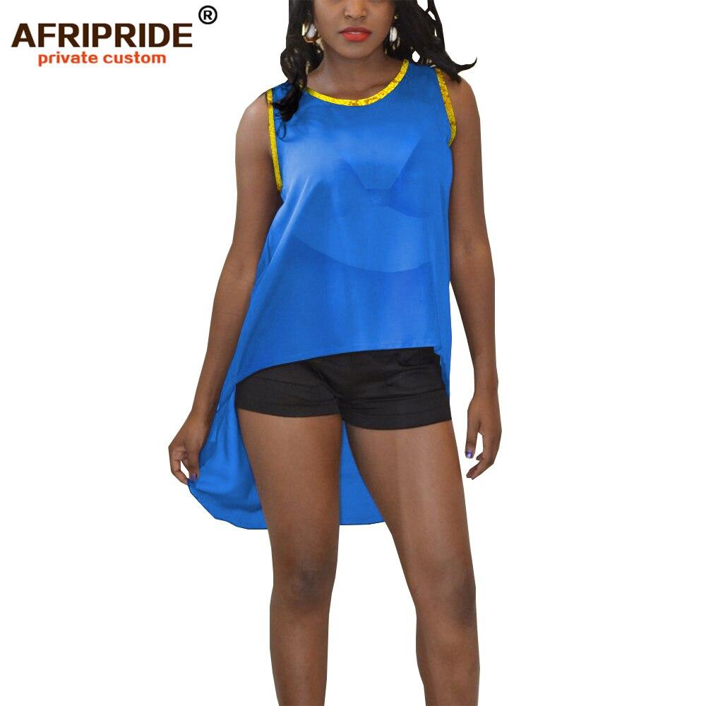 2019 vêtements africains pour femmes crop sexy hauts shein tenues rouge bleu noir blanc jaune vêtements d'été AFRIPRIDE A1922007 - 4