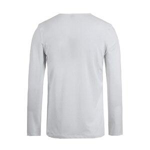 Image 3 - 파이어 니어 캠프 팩 3 단색 긴 소매 티셔츠 남성 브랜드 의류 스트레치 티셔츠 남성 품질 남성 Tshirt 209008