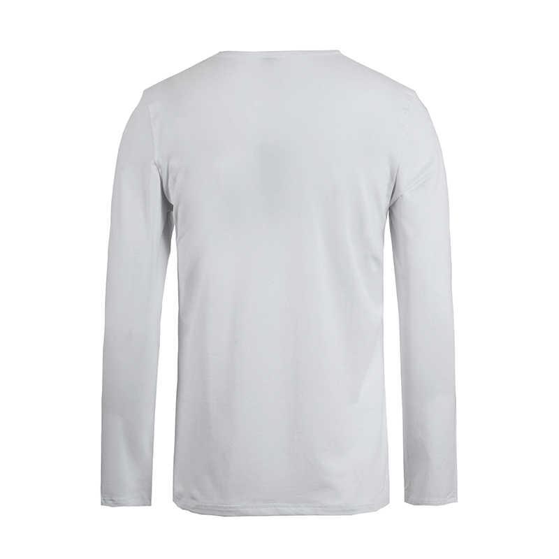 פיוניר מחנה חבילה של 3 מוצק ארוך שרוול חולצה גברים מותג בגדי למתוח חולצה לגברים באיכות זכר חולצת טי 209008