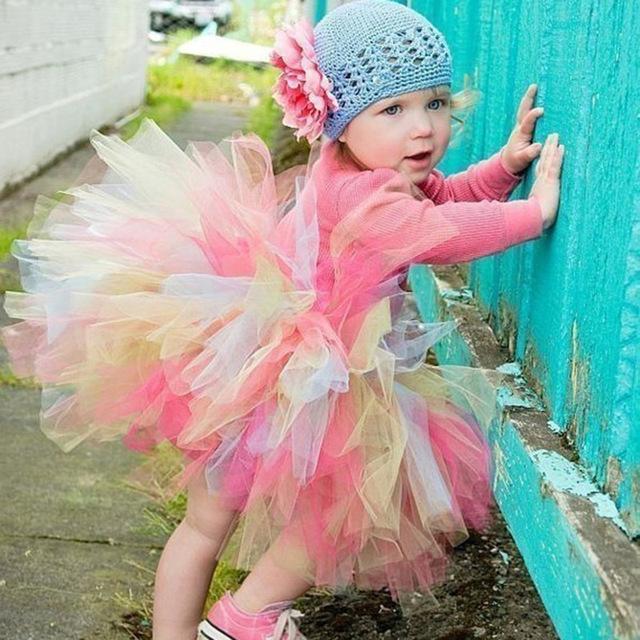 2016 de primavera y verano las niñas faldas del tutú niños ropa niños niño falda mullida Princesa Party Fashion Paños de Regalo Recién Nacido
