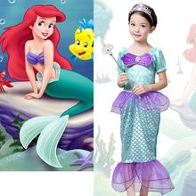 The Little Mermaid Costume Girls Ariel Fancy Princess Cosplay Dresses Age 3 10