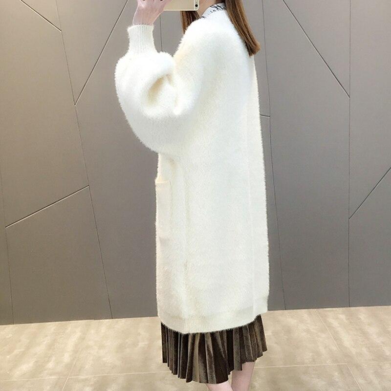 Moyen Cardigan Soat Mode Lh355 Femmes Col À Manteau Nouvelle Rond Couleur Qualité Haute De Chandail Long Tricoter Solide PkuZiX
