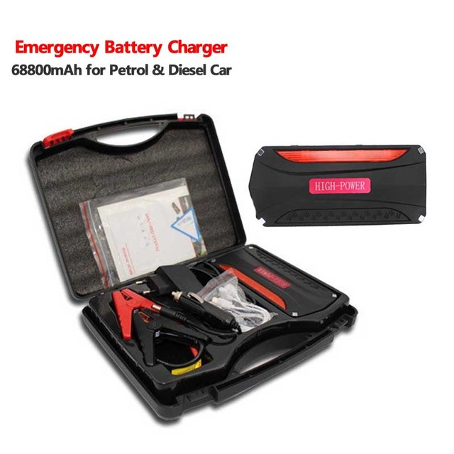 2016 New Arrival 68800mAh Car emergency Jump Starter Booster Mini Portable Emergency Battery Charger for Petrol & Diesel Car