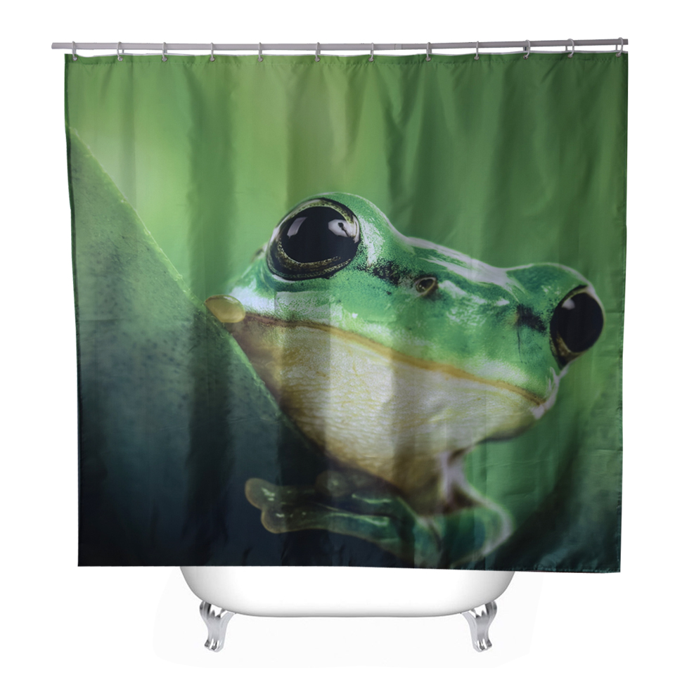 Frog Shower Curtain - Svetanya frog printed shower curtains bath products bathroom decor with hooks waterproof 71x71