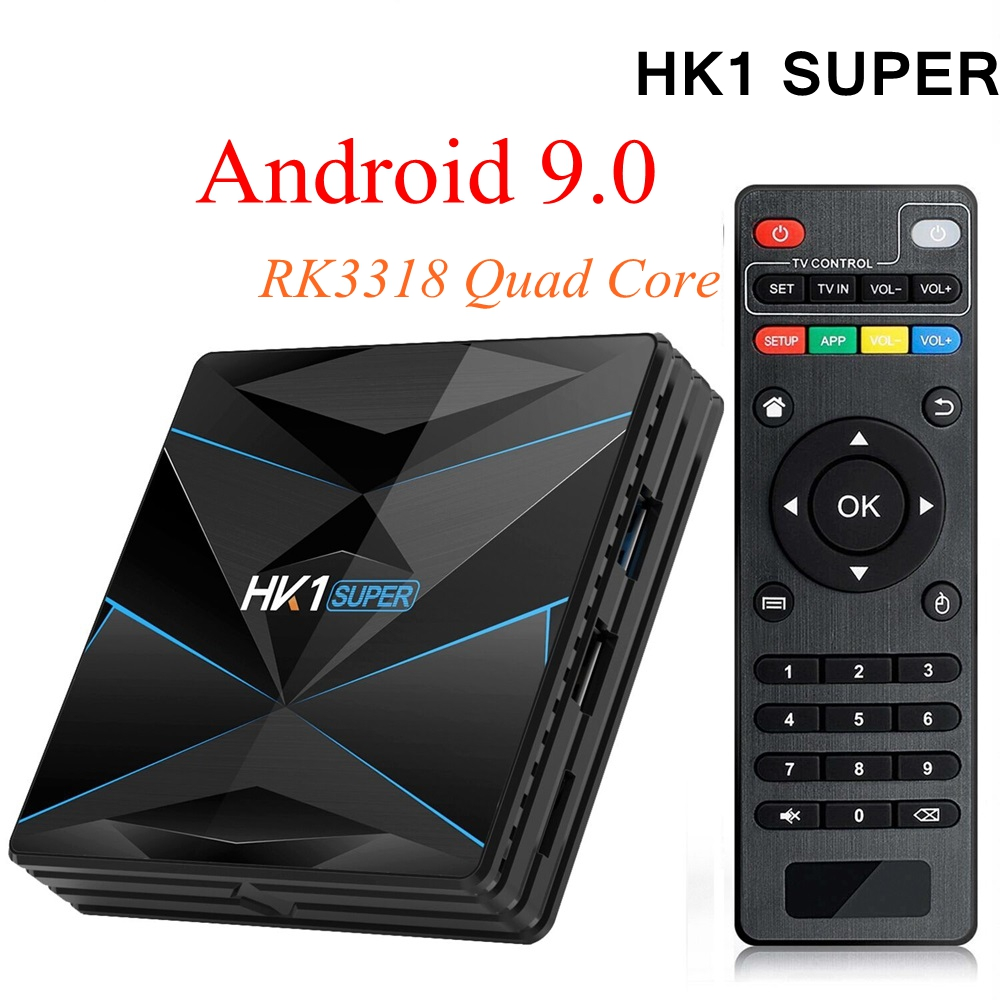 HK1 スーパースマートテレビボックスアンドロイド 9.0 RK3318 クアッドコア 4 ギガバイト 128 ギガバイト最大 2.4 グラム/5 グラムデュアル無線 Lan USB3.0 BT4.0 4 18K H.265 UHD メディアプレーヤー  グループ上の 家電製品 からの セット トップ ボックス の中 1