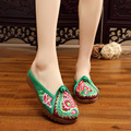 2017 Old Beijing Embroidered Women Shoes Mary Jane Flat Heel Denim Chinese Style Casual Cloth Plus Size 5colors Shoes Woman
