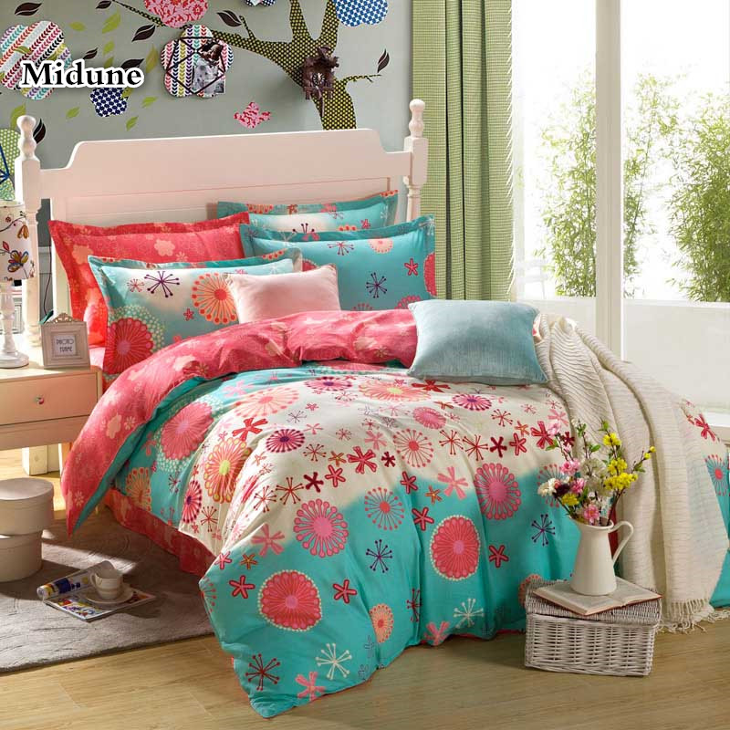 5pcs 100%cotton two Duvet cover and one Bedsheet and two Pillowcases soft printed bedding set Comfortable and Healthy bedcloth5pcs 100%cotton two Duvet cover and one Bedsheet and two Pillowcases soft printed bedding set Comfortable and Healthy bedcloth