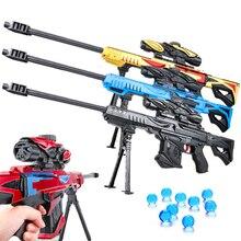 Пластиковая наружная водяная пулемет, игрушка для детей, снайперская винтовка, пулемет, гелевый мягкий Пейнтбольный пистолет, оружие, подарок для мальчиков, детские подарки