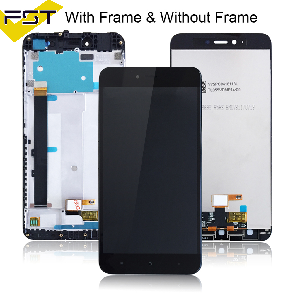 For Xiaomi Redmi Note 5A Standard 2GB/16GB LCD Display For RedRice Note 5A LCD Digitizer Screen Touch Panel With Frame