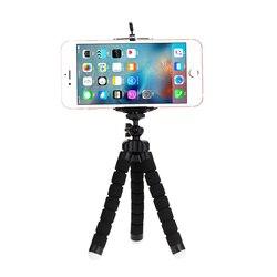 Tripés tripé para telefone móvel titular clipe smartphone monopod tripe polvo mini tripé stativ para telefone