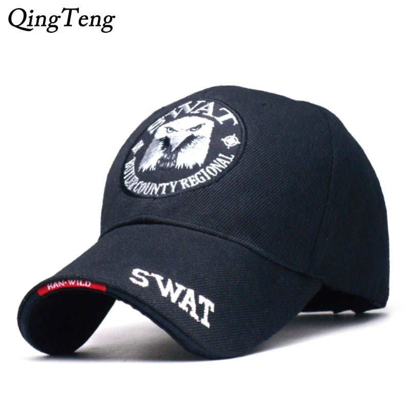 SWAT Army   Cap   Male Embroidered Eagle Black   Baseball     Caps   Men Gorras Para Hombre Women Snapback Bone Masculino Tactical   Cap