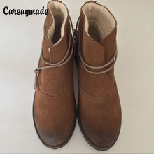 2014 autumn and winter new listings in leather boots  Martin boots flat boots real leather shoes women  Leisure  boots