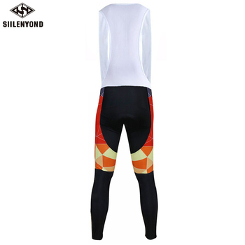 Siilenyond 2019 Winter Keep Warm Cycling Bib Pants With 3D Gel Padded Thermal MTB Bike Bib Tights Comfortable Cycling Trousers 2