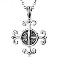 Vintage Monili Punk Intaglio Croce Collana 925 Sterling Silver Unisex Collier per le Donne e Gli Uomini Regalo Del Partito