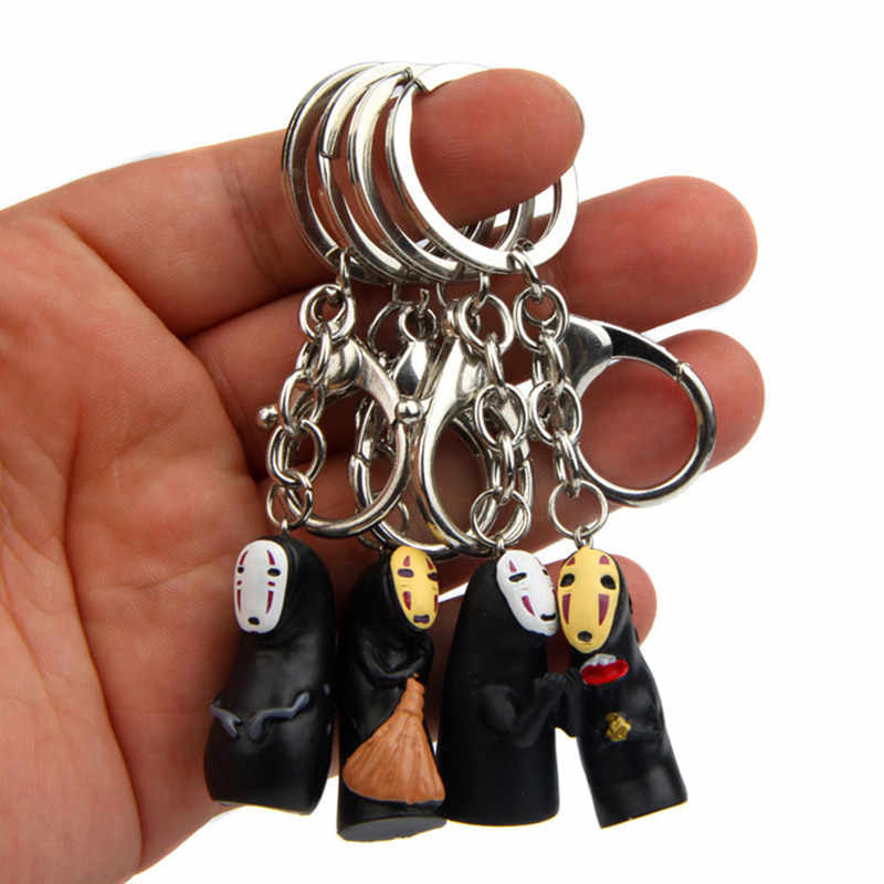 שלי השכן Totoro קריקטורה PVC Keychain המסע מופלא לא פנים חמוד רך גומי תג מטען כרטיס עלייה למטוס תיק תגים תלויים מתנות