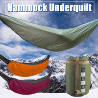 Camping Sleeping Bag Outdoor Lightweight Quilt Packable Full Length Hammock Underquilt Under Blanket 5C To 20C